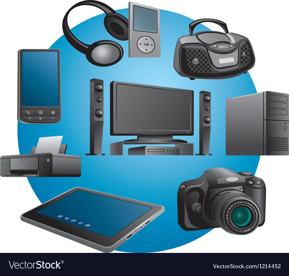 Electronics appliances icons vector image