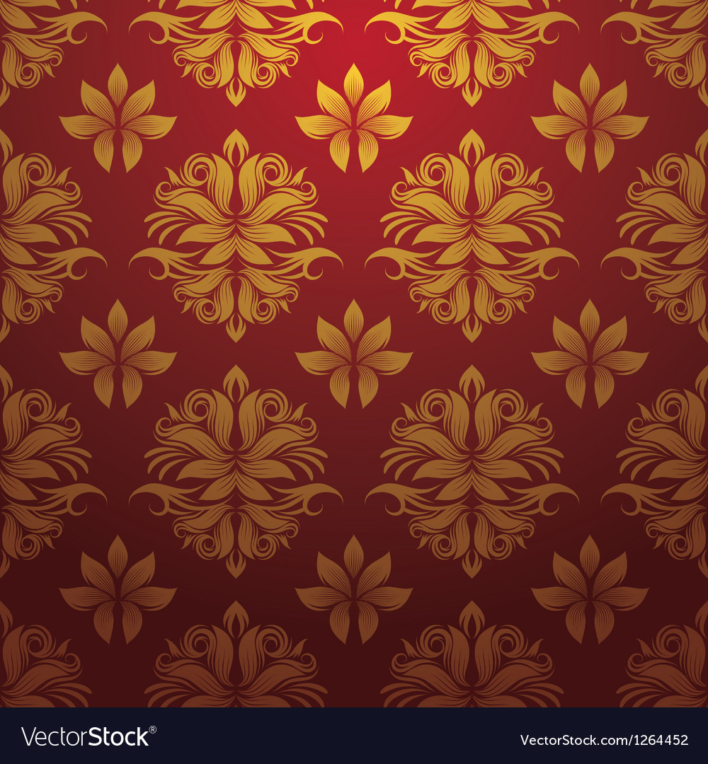 Gold and red pattern vector image