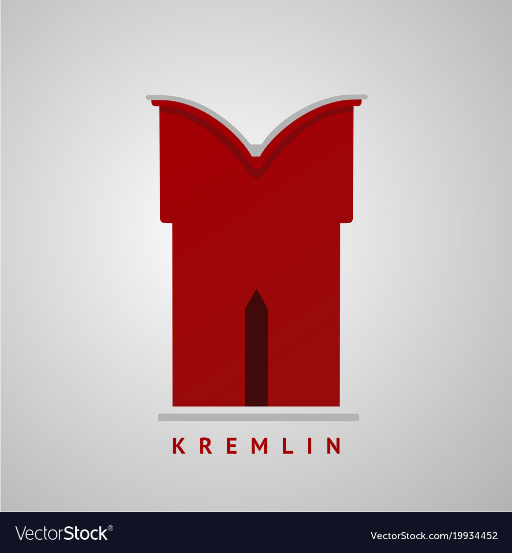 Kremlin wall element isolated sign flat