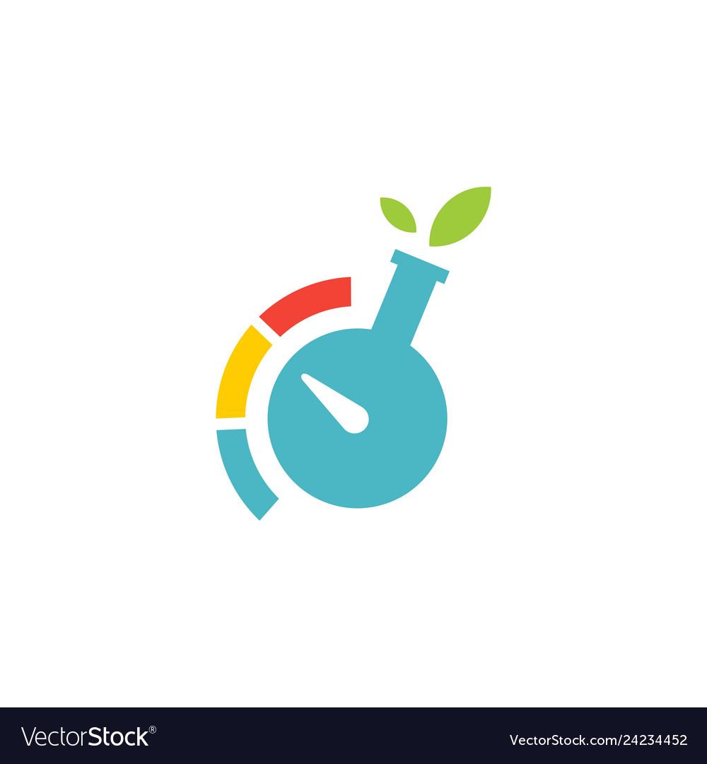 Lab leaf test meter level logo icon