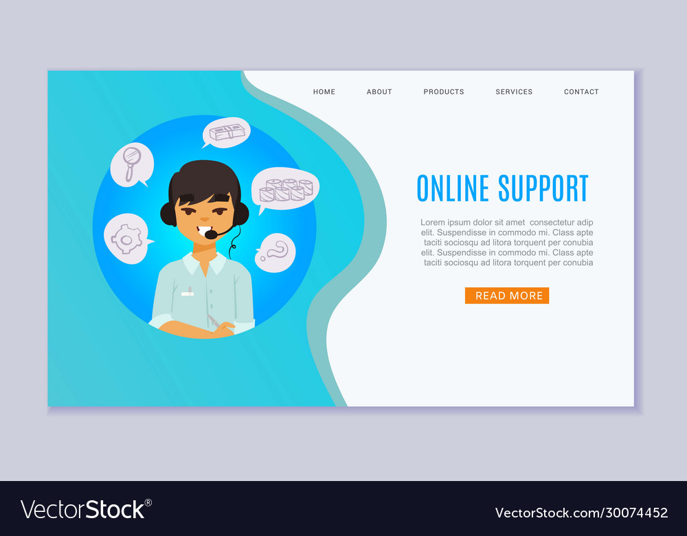 Online support and consulting website