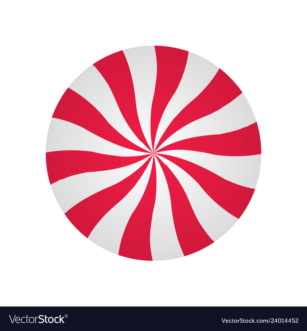 Peppermint cream candy spiral red and white form