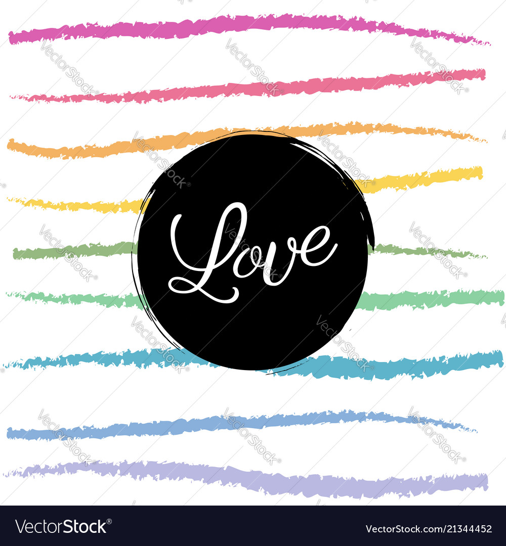 Rainbow love colorful background