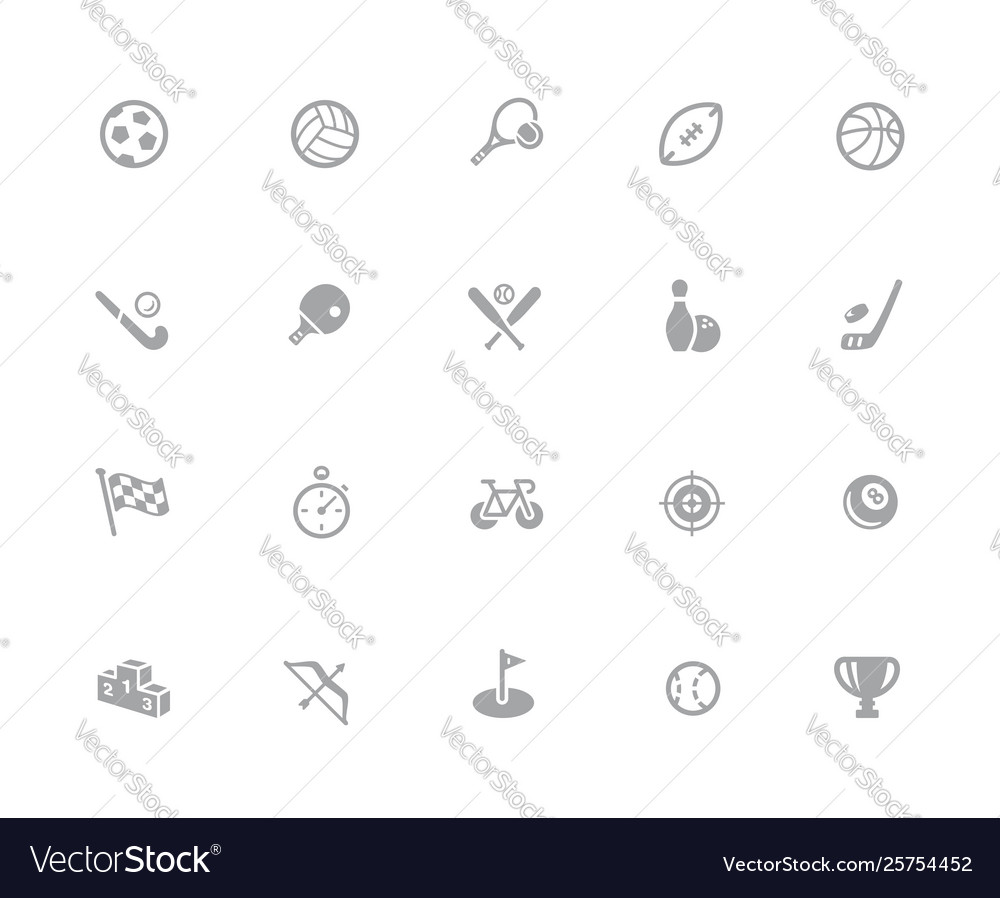 Sport icons 32 pixels icons white series