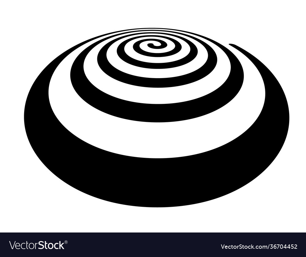 Thick spiral shape in perspective view