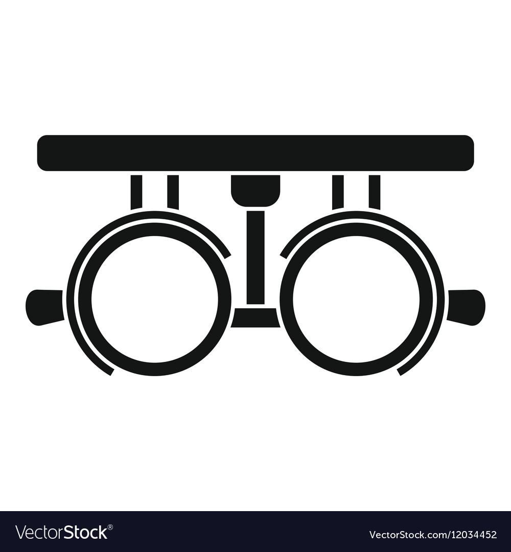 Trial frame for checking patient vision icon