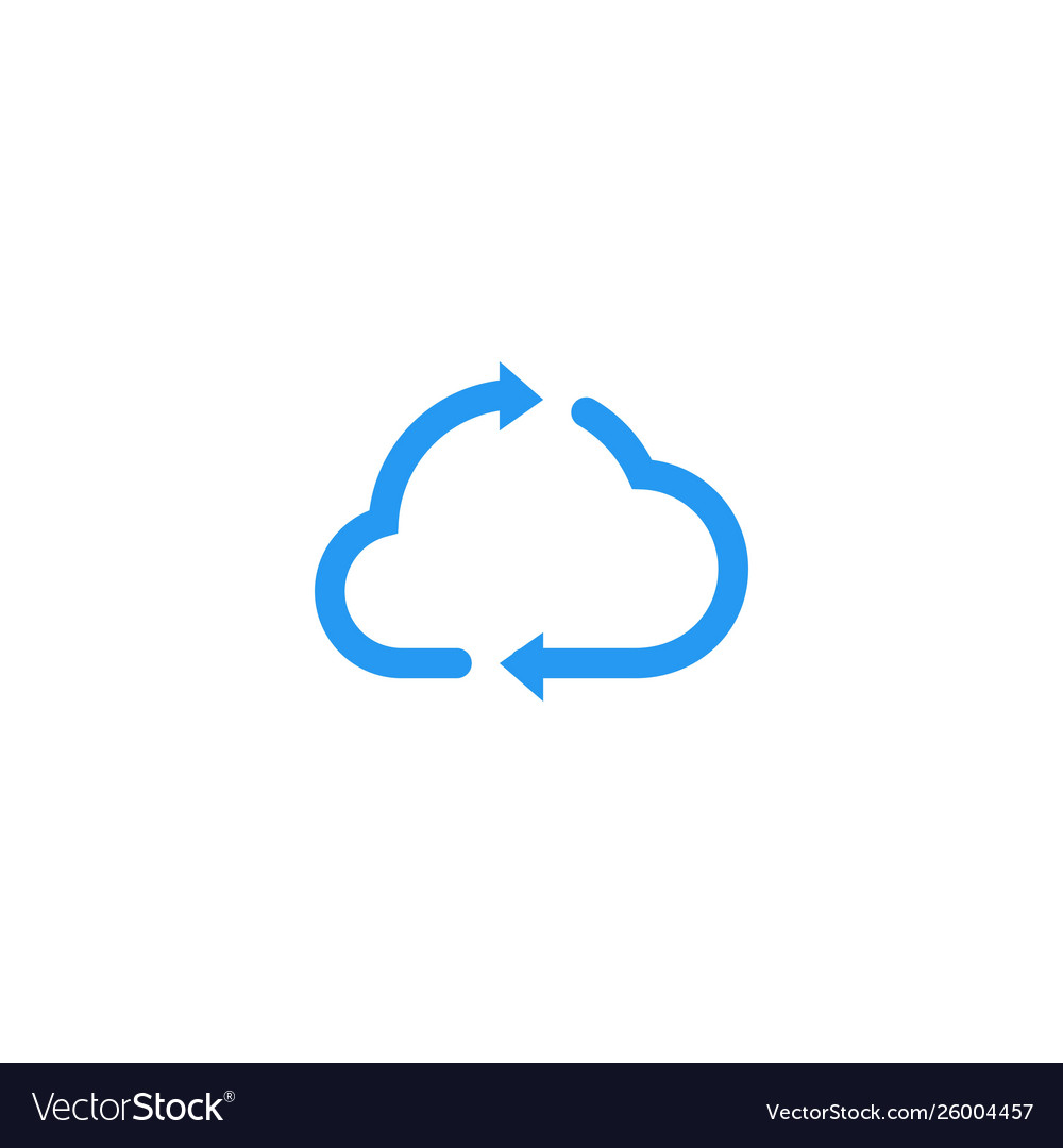 Cloud update recycle arrow logo icon