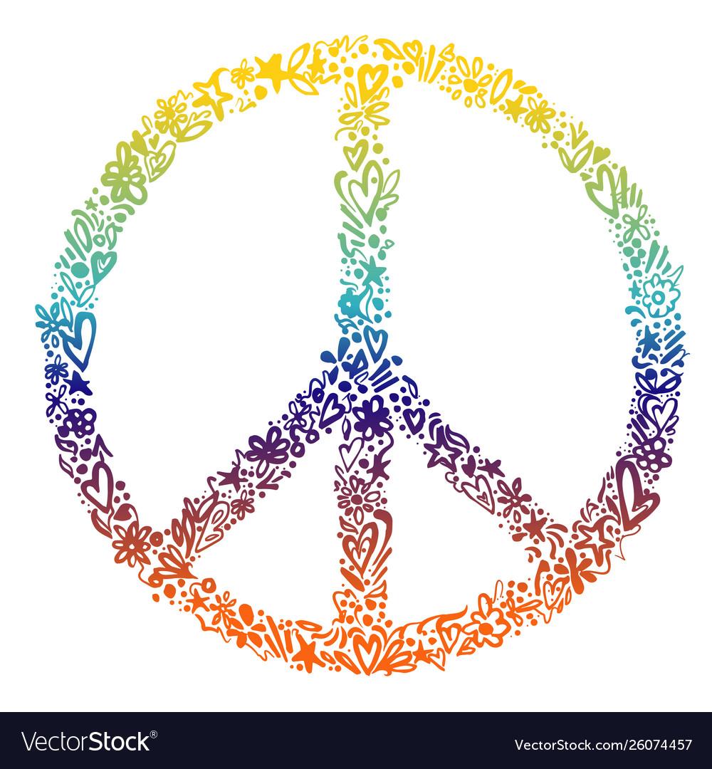 Colorful peace symbol