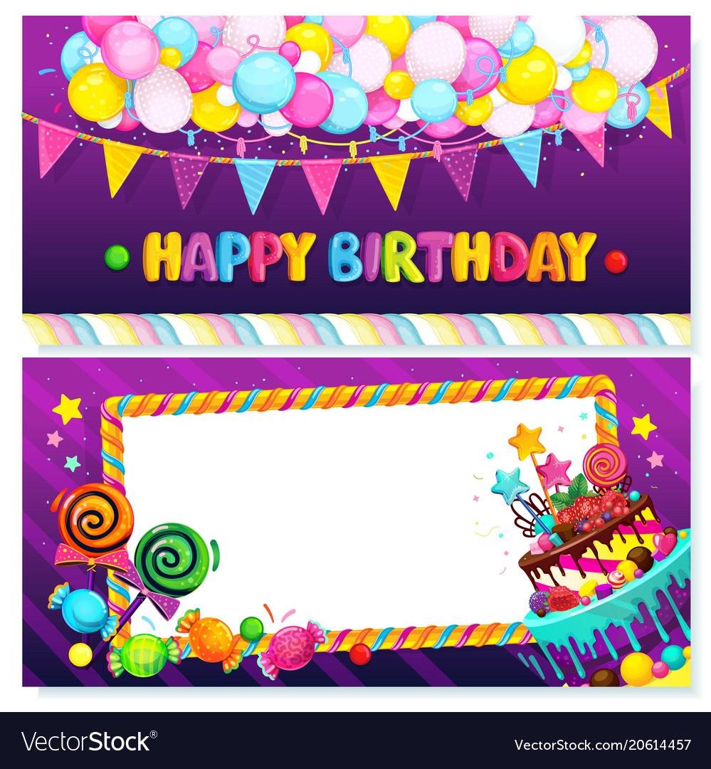 Happy birthday postcard Royalty Free Vector Image