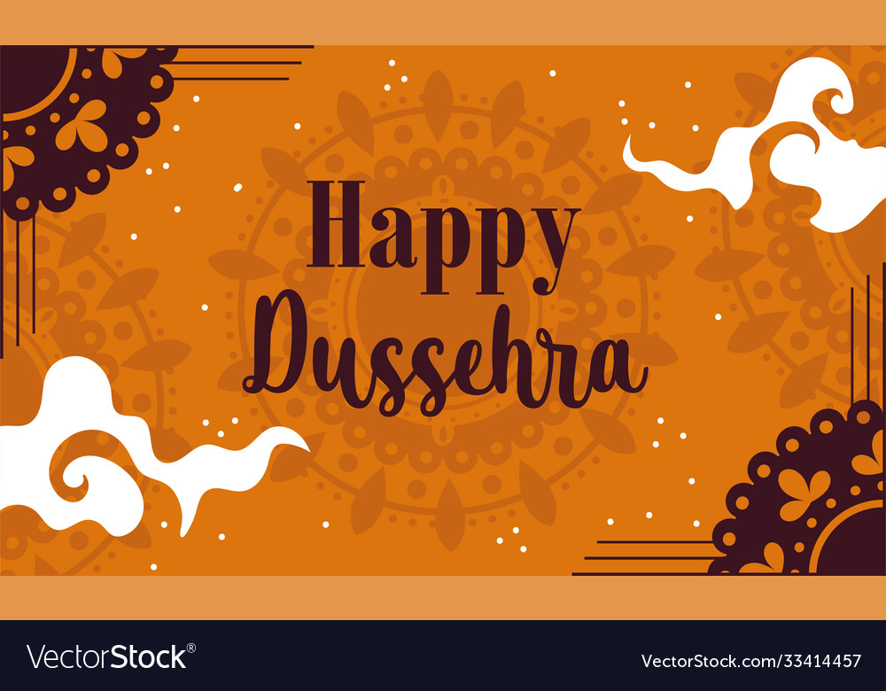 Happy dussehra festival india traditional