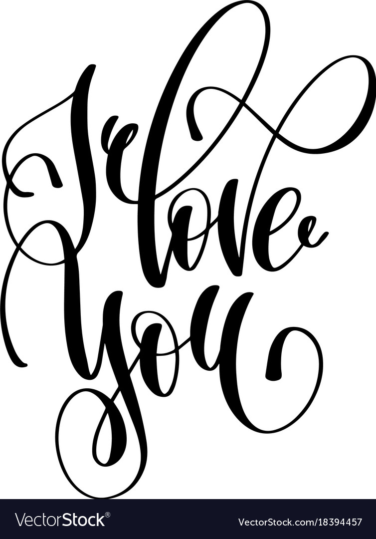Download I love you hand lettering inscription Royalty Free Vector