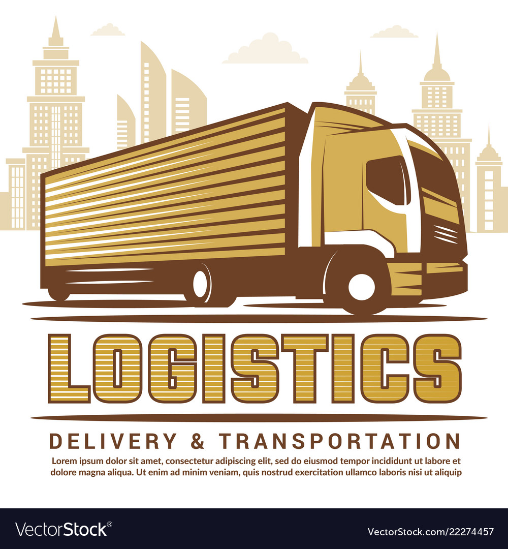 Logistics background stylized