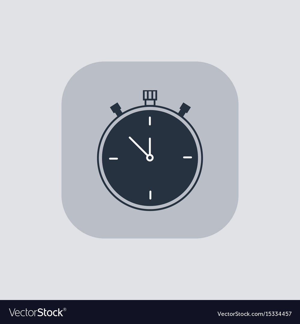 Modern stopwatch icon on gray background