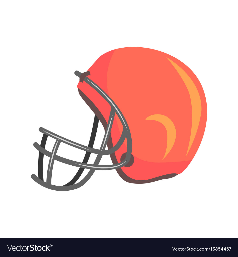 Protective players helmet with face mask part of vector image