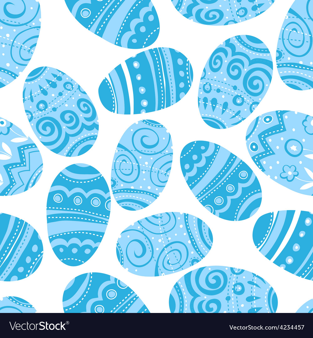 Seamless easter blue pattern