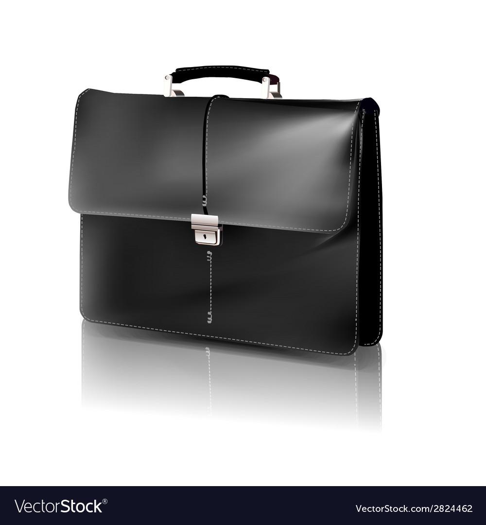 Black briefcase vector image