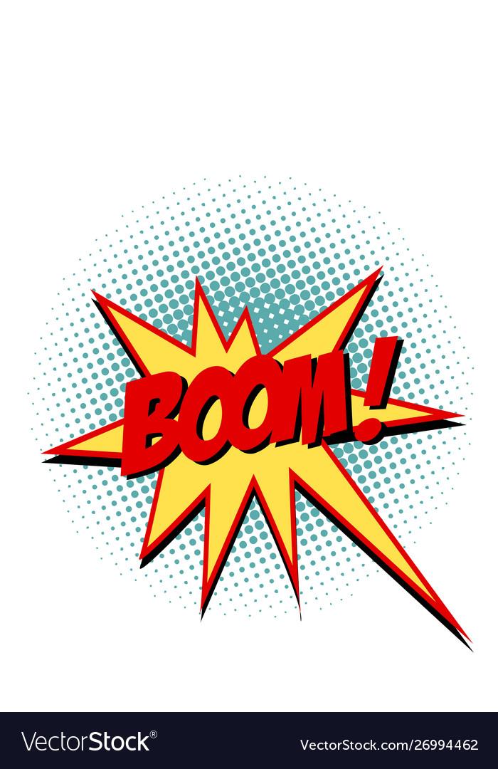 Boom comic text symbol sign