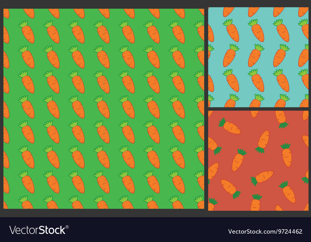 Carrot pattern for kids summer background
