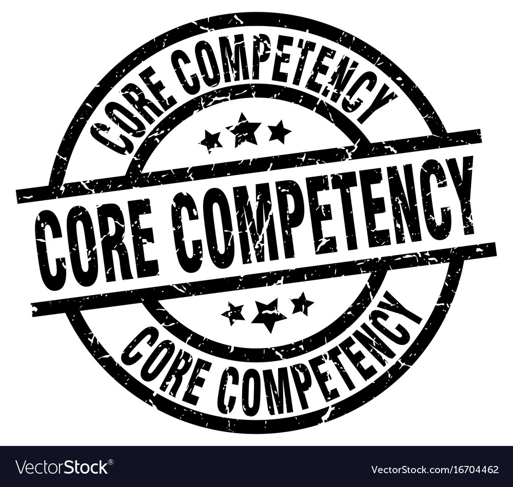 Core competency round grunge black stamp vector image