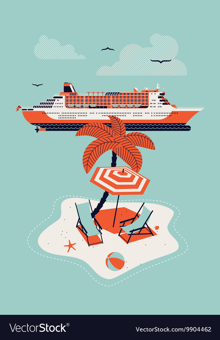 Cruise Ship and an Island
