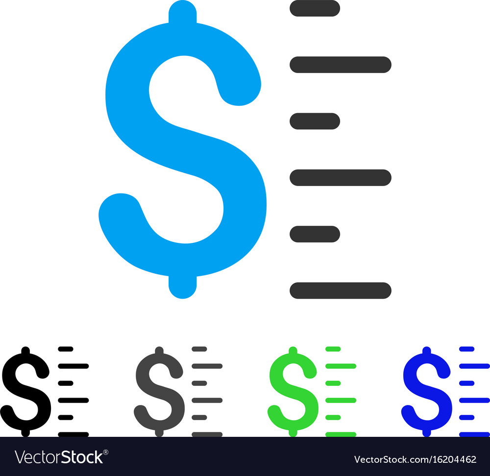 Dollar value flat icon