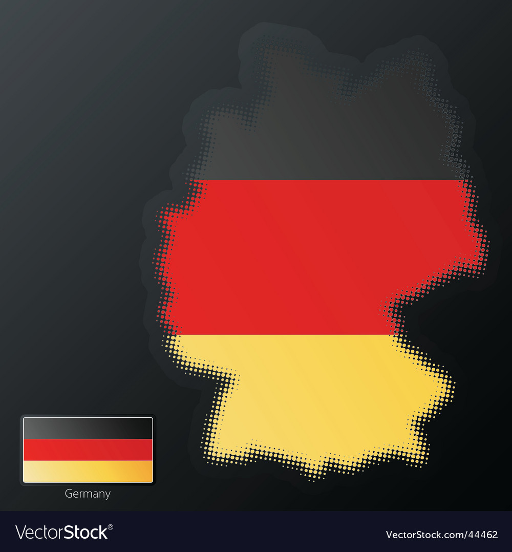 Germany halftone map