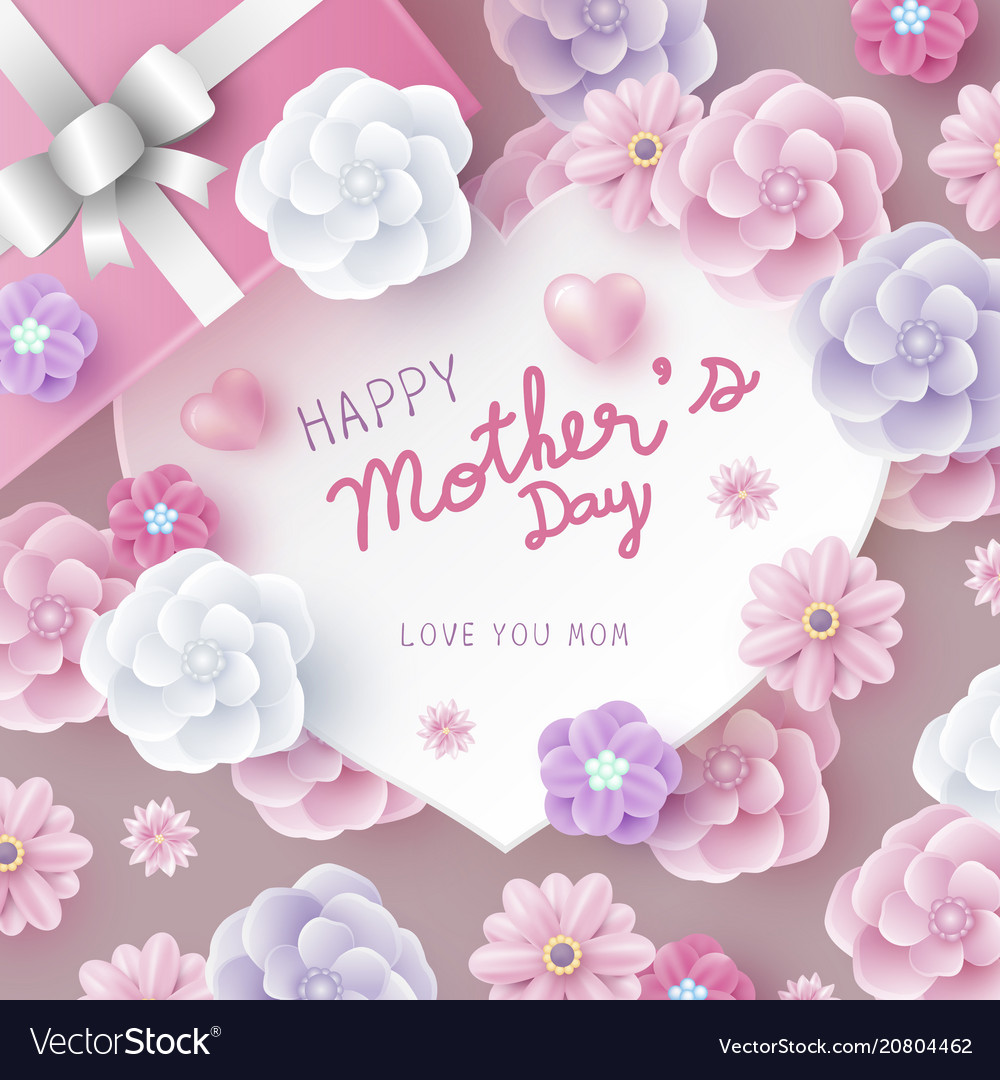 Mothers day card concept design