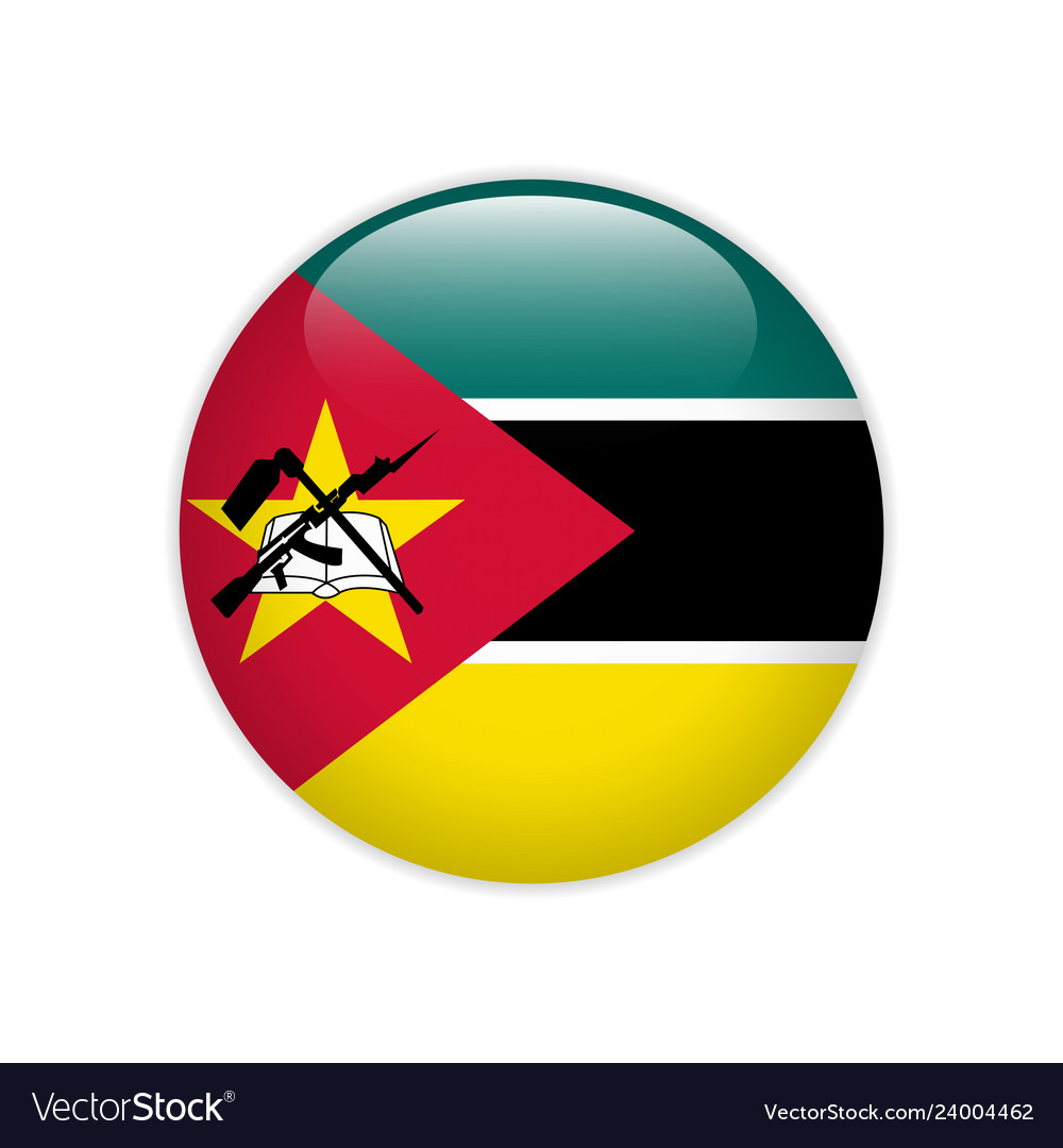 Mozambique flag on button