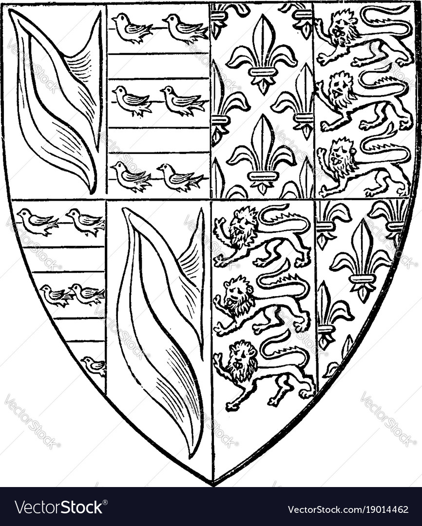 Shield of john de hastings are impaling france