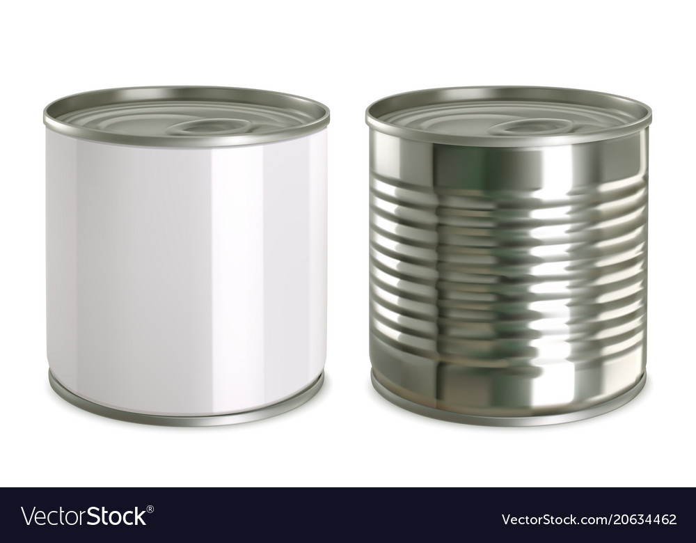 Tin can mock up 3d realistic icon set