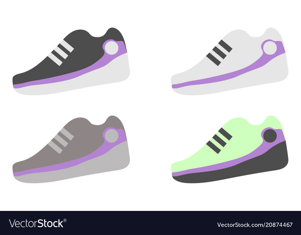 A set of different sneakers
