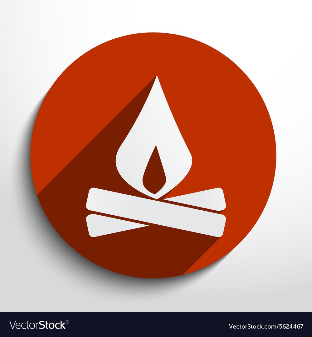 Campfire web icon