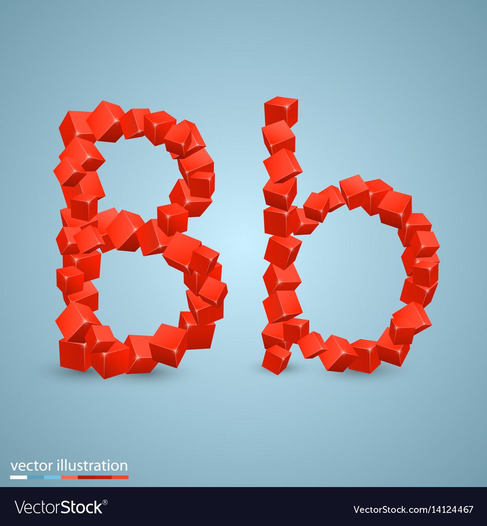 Cubes as a symbol font b