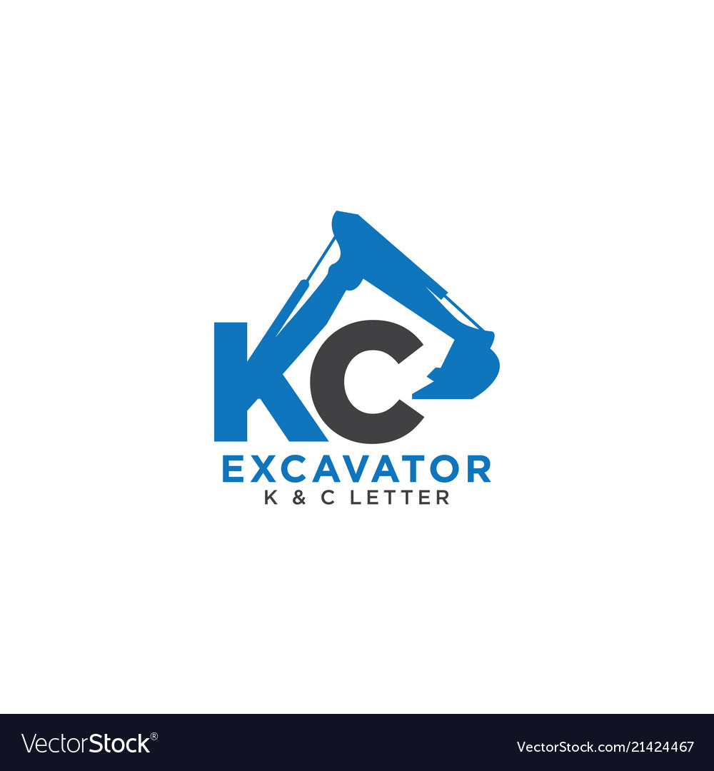 Letter k and c initial excavator
