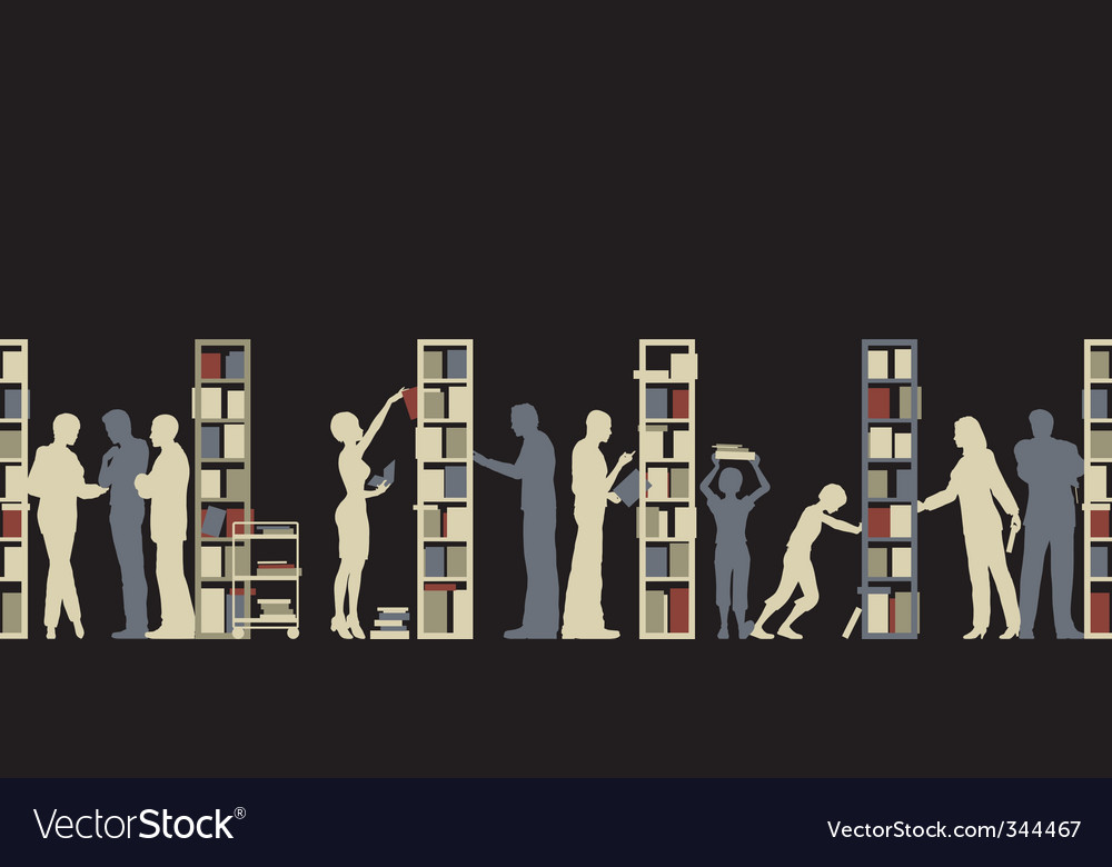 Library vector image