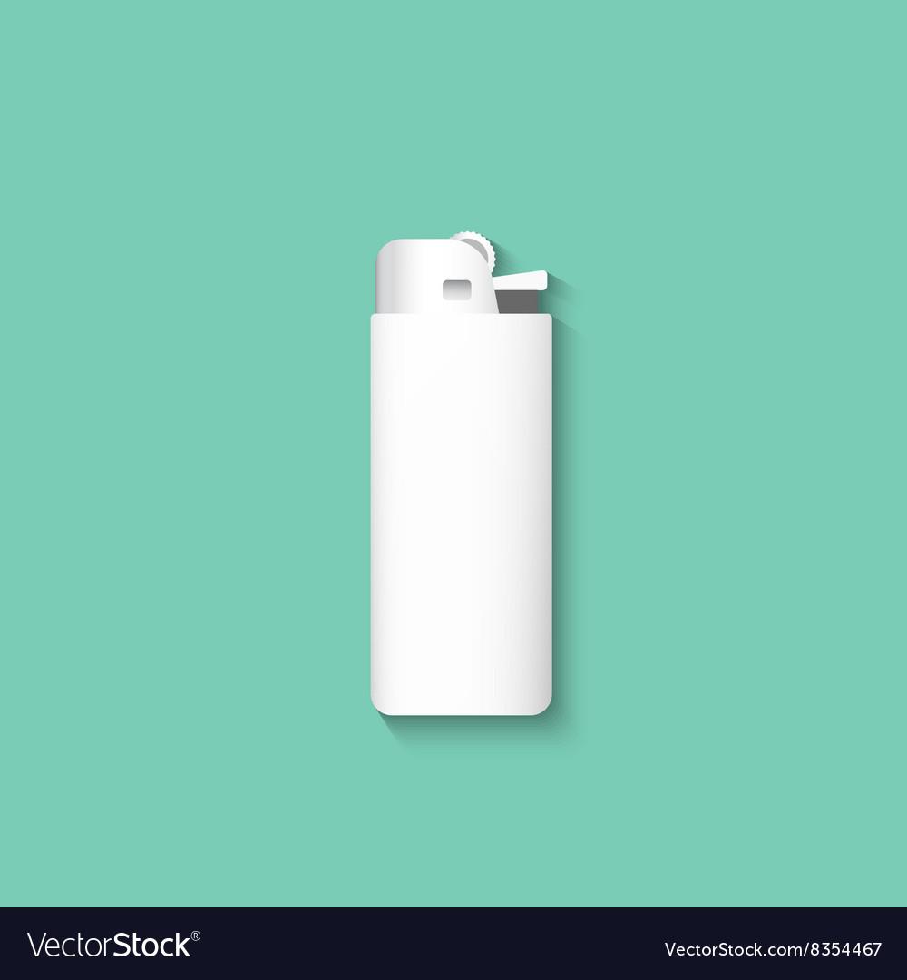 Lighters Lighter isolated on a green background