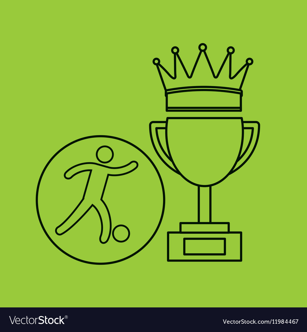 Silhouette person soccer winner sport vector image