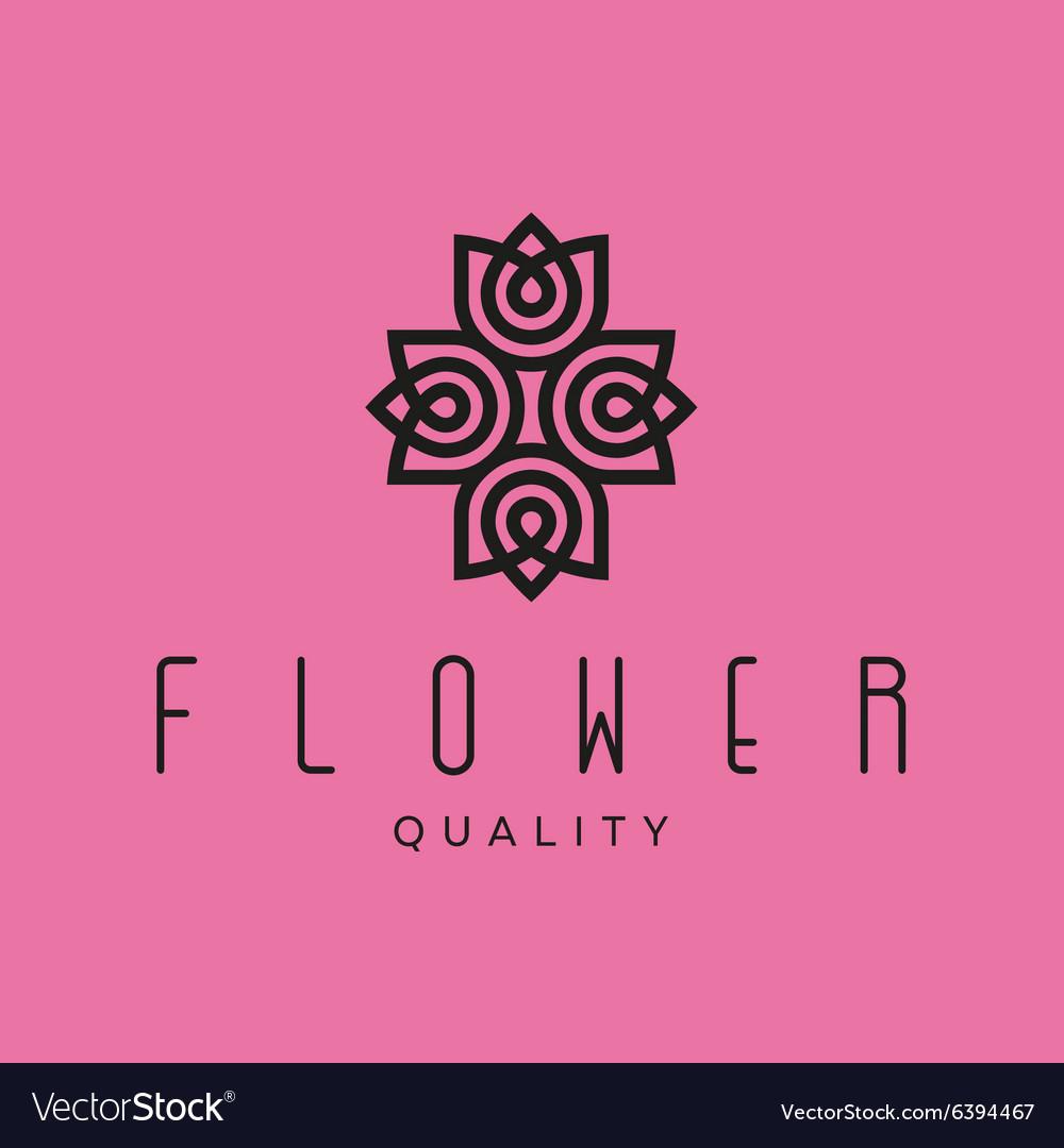 Simple and graceful floral monogram design