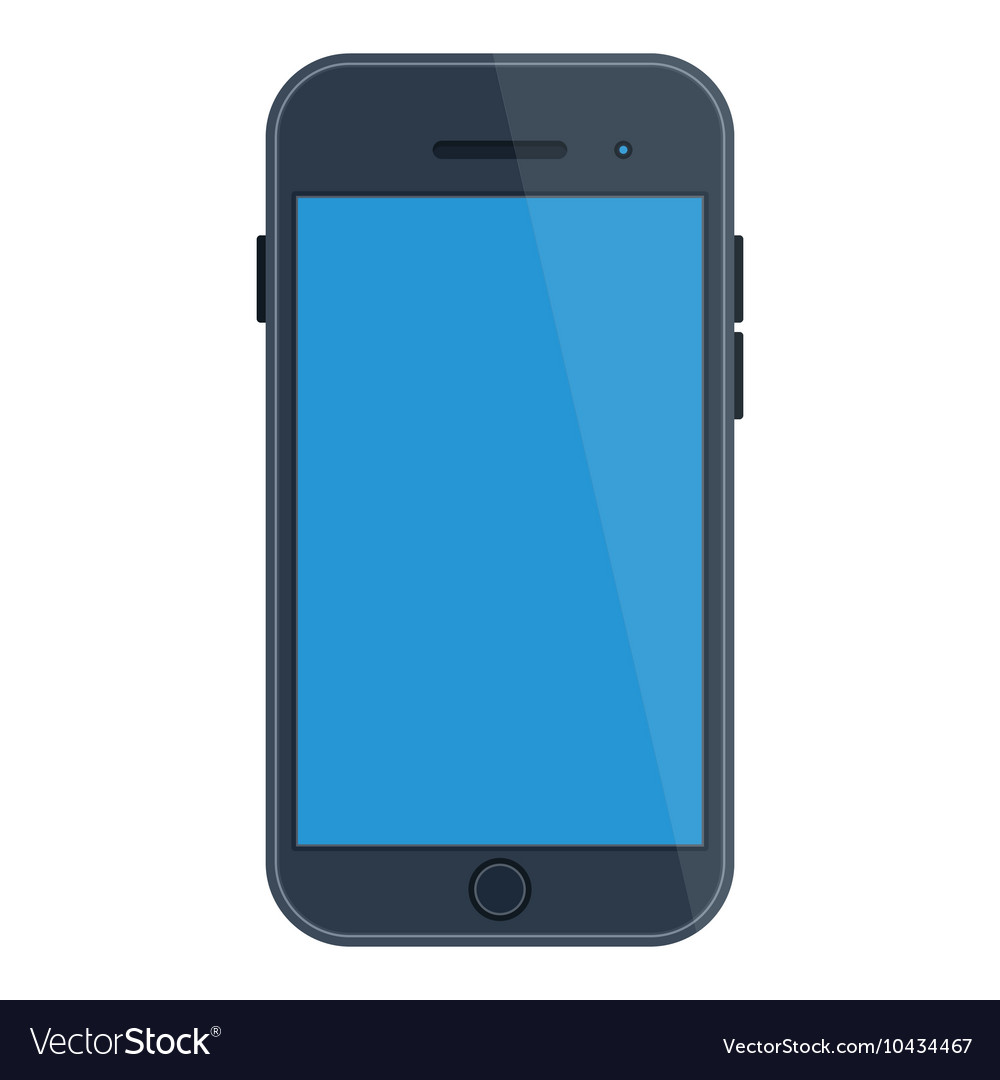 Smartphone with blue screen
