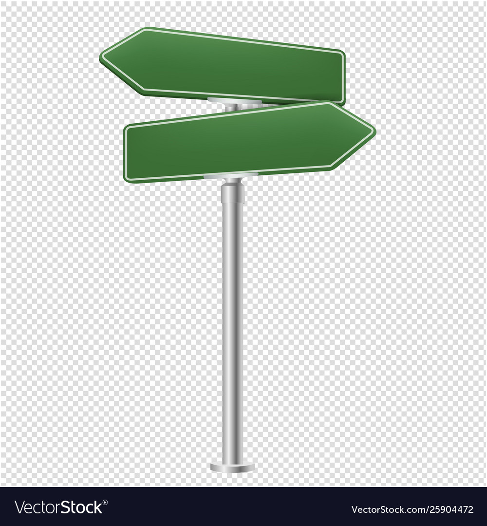 blank street sign isolated transparent background vector image  vectorstock