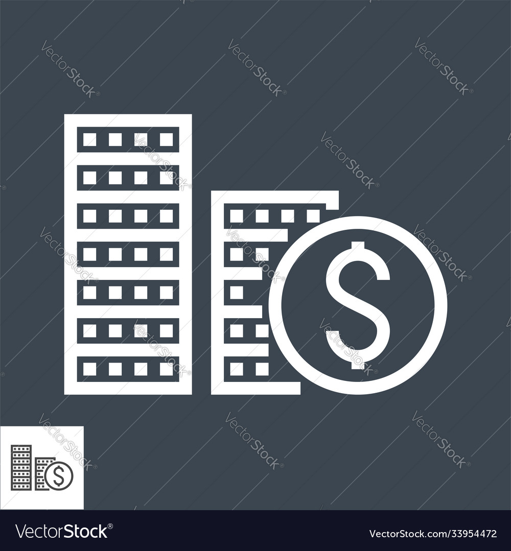Coins stack thin line icon