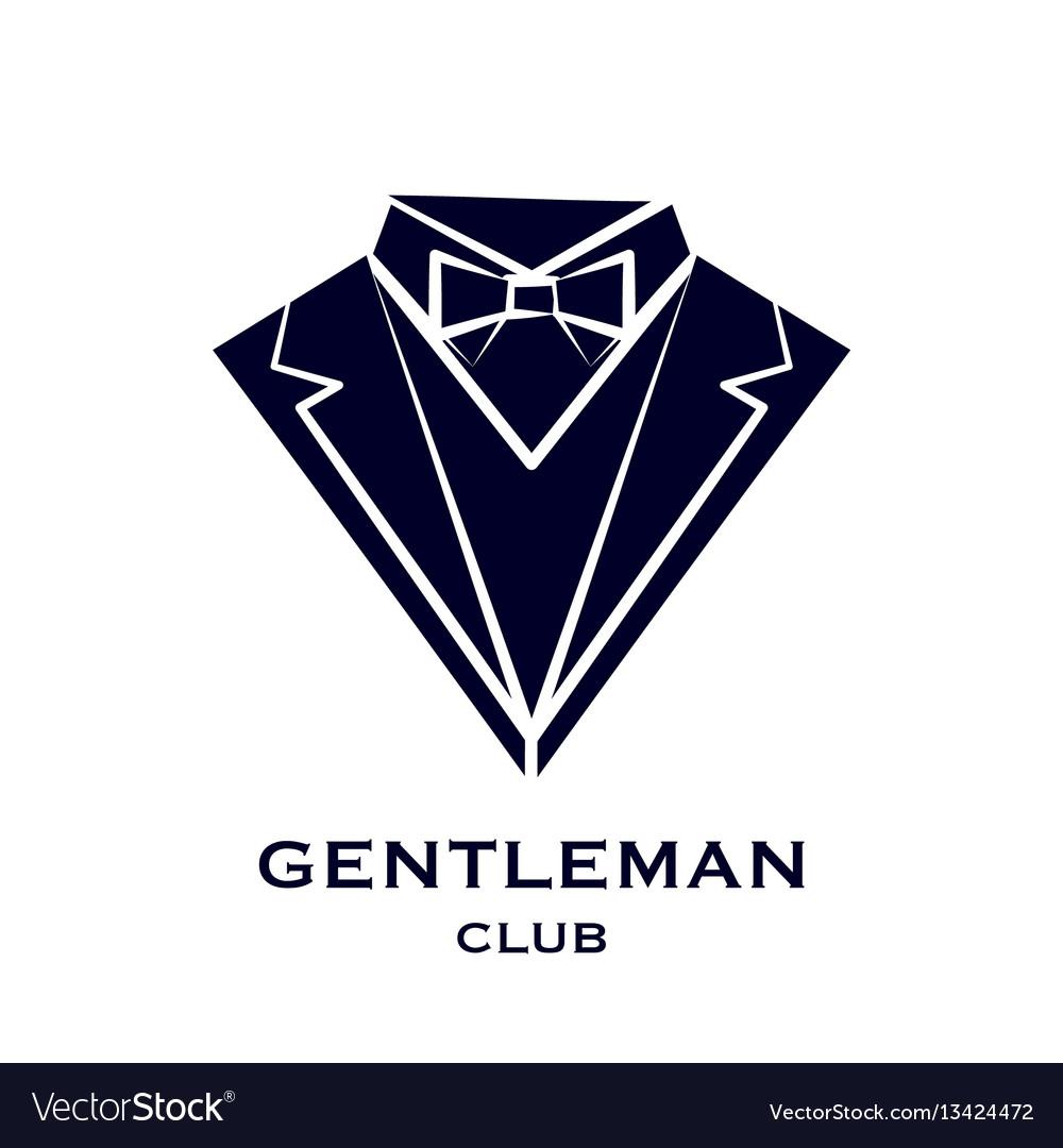 Getleman club logo vector image