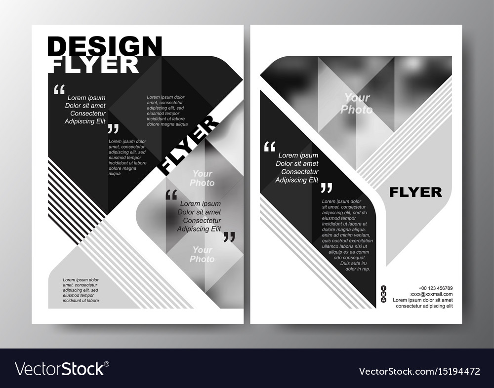 minimal modern poster brochure flyer design layout