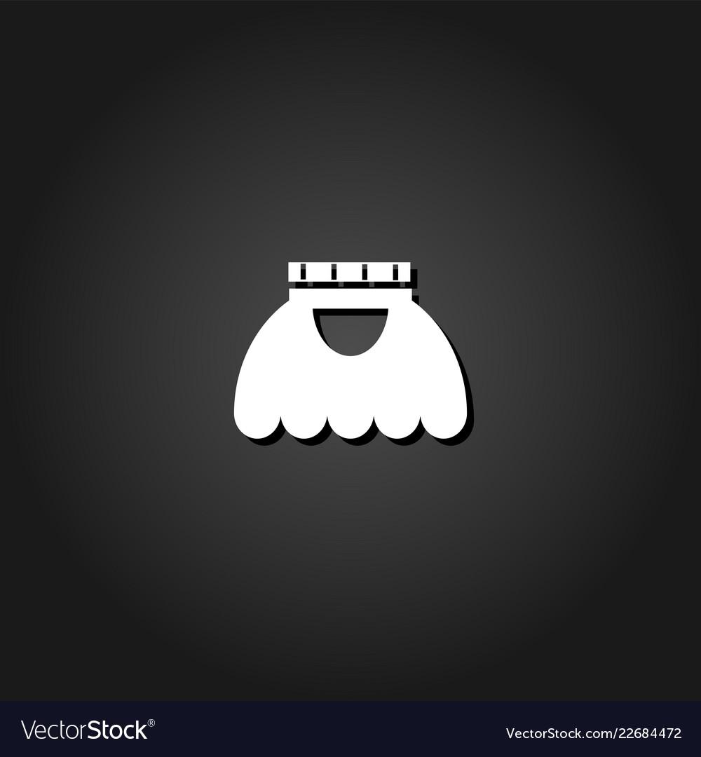 Skirt icon flat