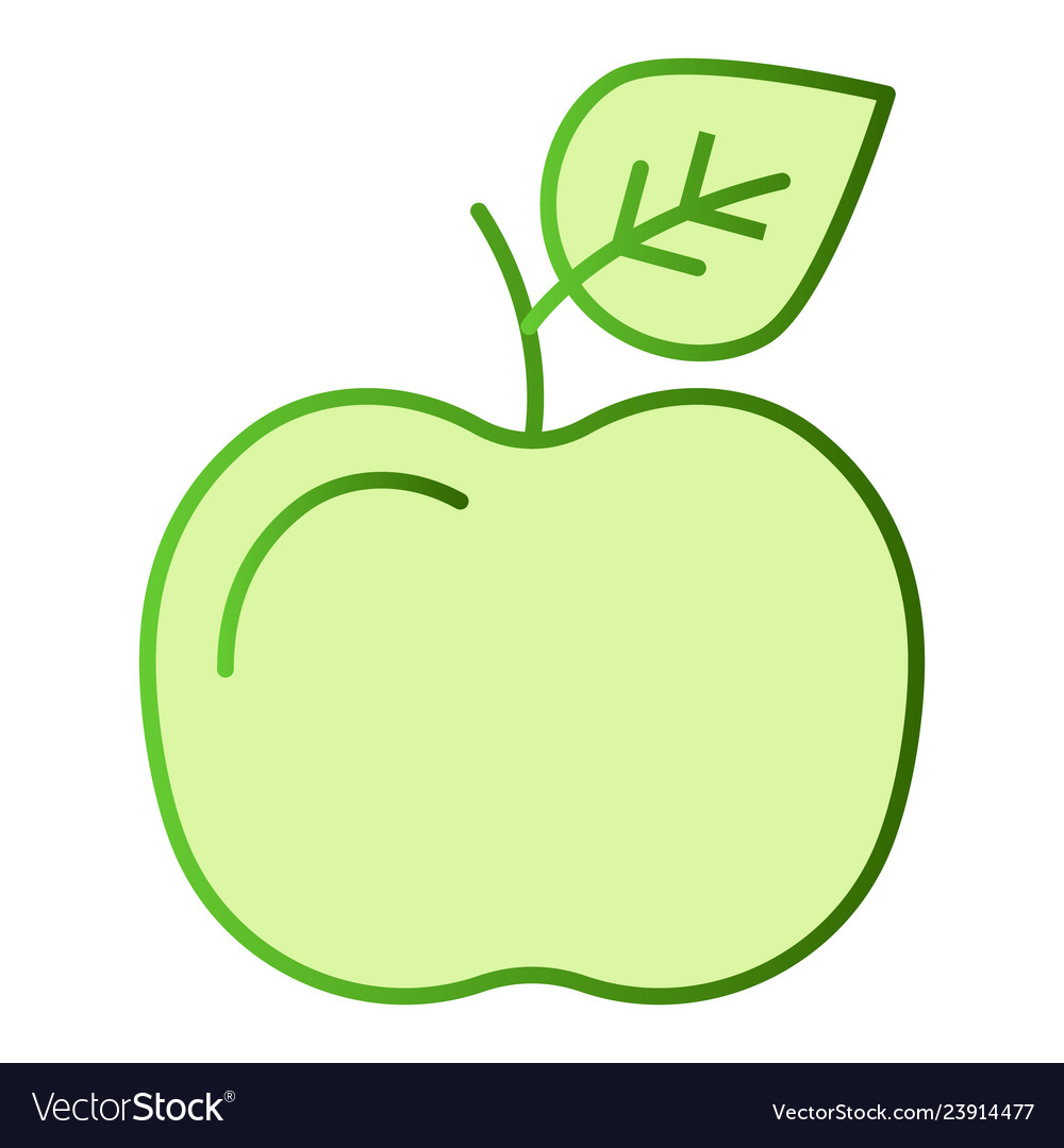 Apple flat icon fruit color icons in trendy flat
