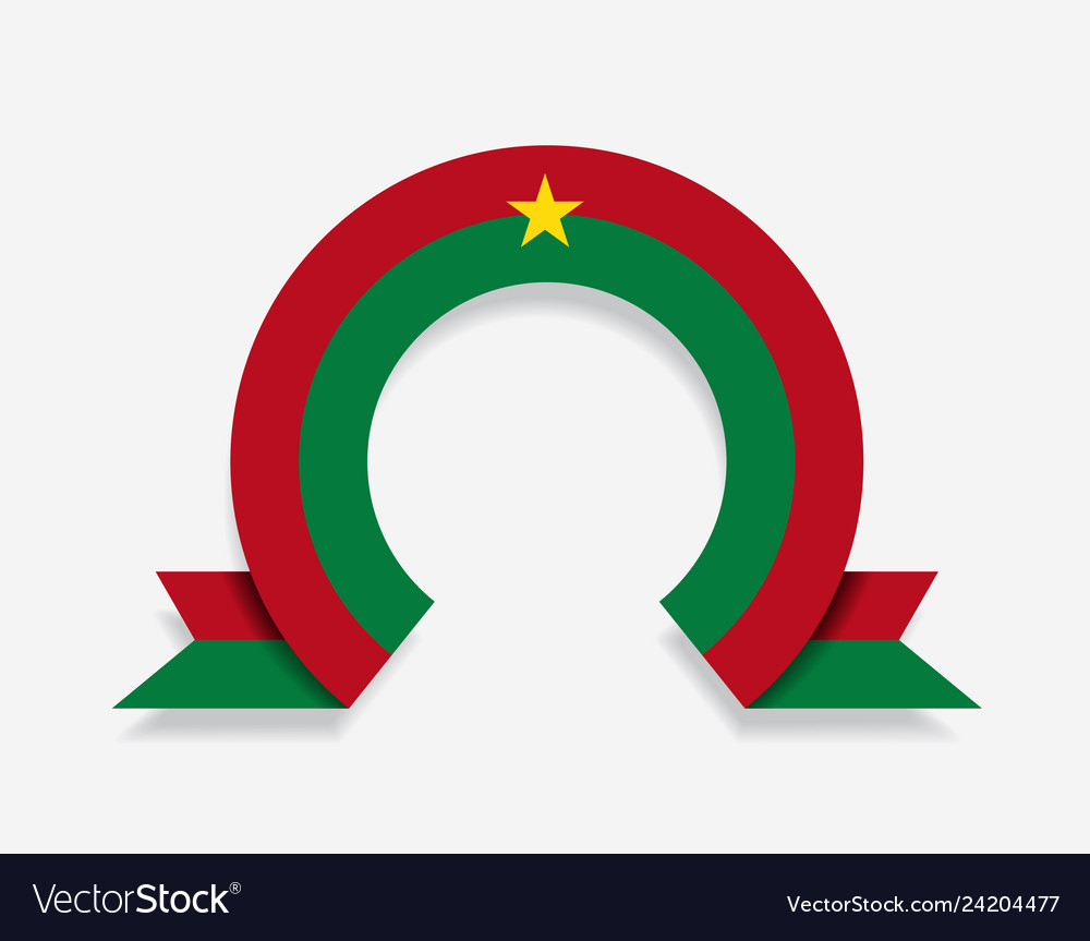 Burkina faso flag rounded abstract background
