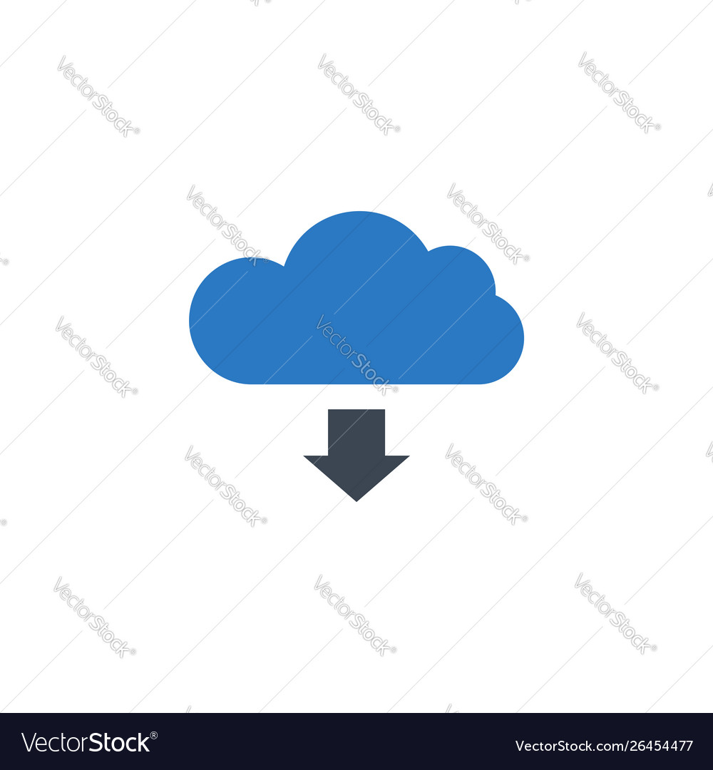 Cloud storage related glyph icon
