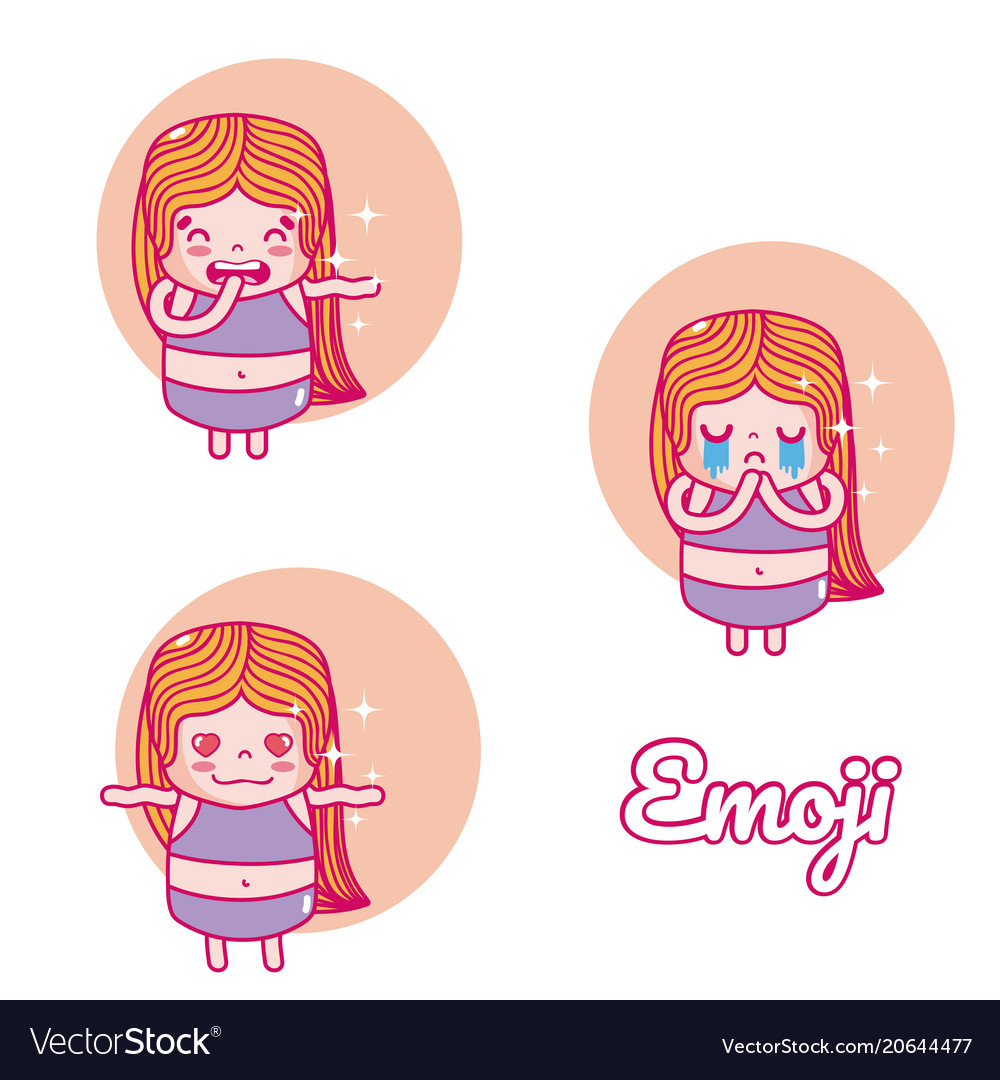 Cute girl emojis