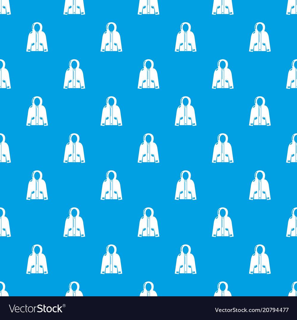Hooded jacket pattern seamless blue