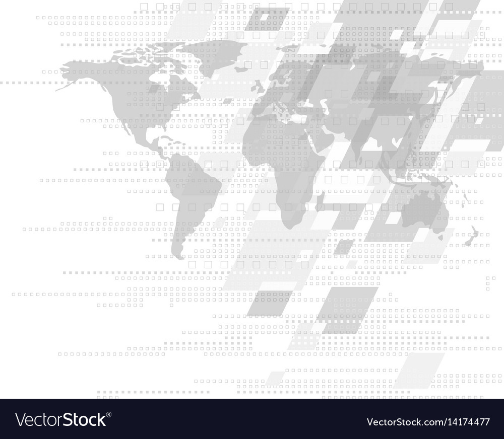 Modern abstract background design with world map vector image gumiabroncs Image collections